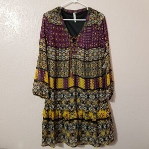 NY Collection Women Dress Multicolor Long Sleeve